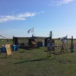 La cabane à jeux au matin