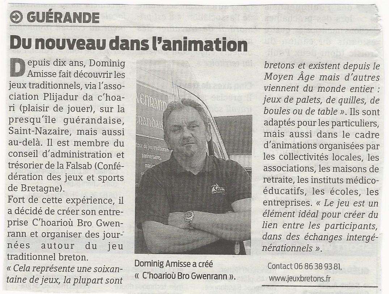 article Presse Ocean 8 02 2013